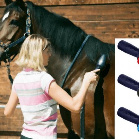 Pferdestaubsauger mit 2 Bürsten zur Wahl
